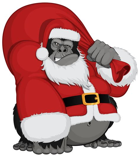 monkey santa monkey santa png clipart image gallery yopriceville