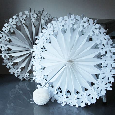 paper snowflake decorations paper luxe supersize snowflake decorations by pearl and