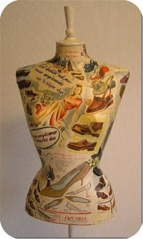 decoupage mannequin dress form decoupage and vintage on