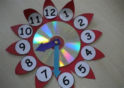 clock craft project cd clock project 171 funnycrafts