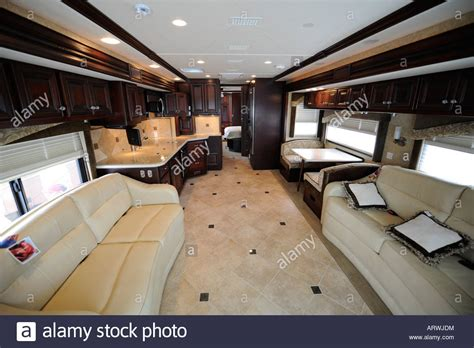 motor home interior interior of a motorhome coach stock photo royalty free