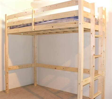 strictly bunk beds 4ft 6 heavy duty solid pine high sleeper