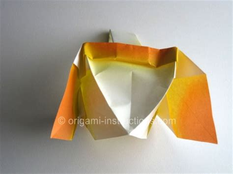 origami basket with handle easter craft origami basket folding how