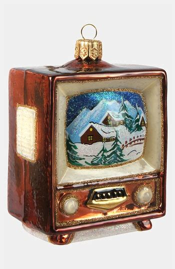 tv ornaments glass ornaments television and vintage television on