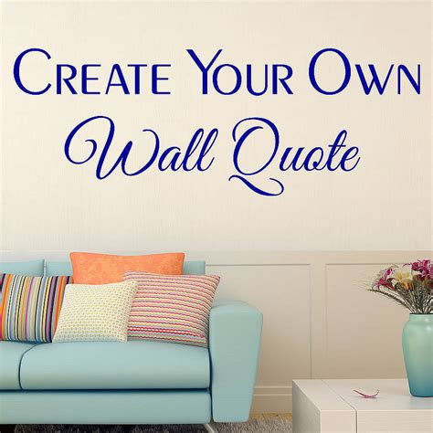 personalised wall sticker quotes custom wall stickers by wall quotes designs by gemma