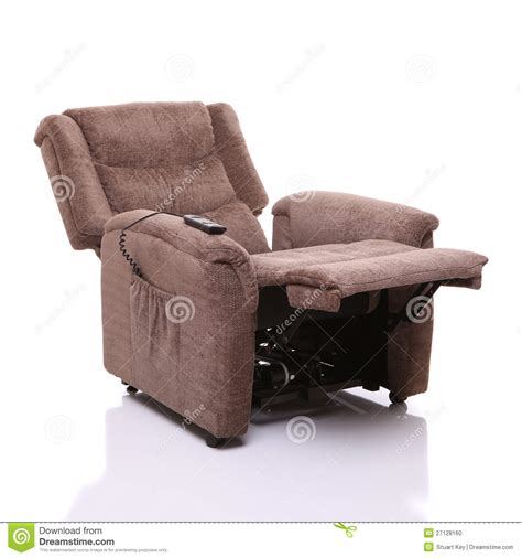 rise and recline chair fully reclined stock photo