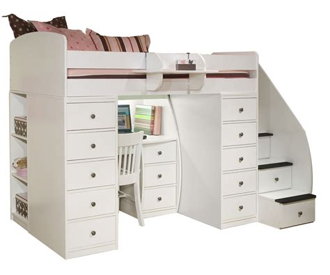 loft beds with desk and stairs space loft bed with desk clever it size loft bed