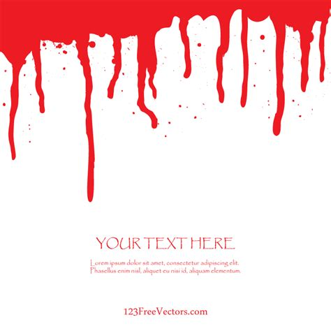 free blood dripping vector art 123freevectors