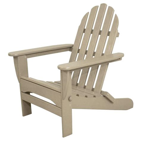 Adirondacks Chairs Home Depot by Terrace Classics Sand Plastic Patio Adirondack Chair