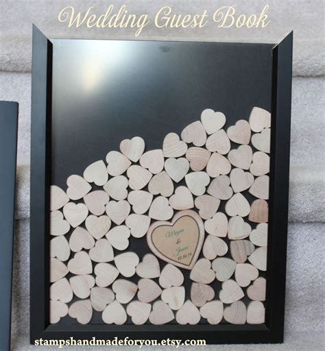 wedding guest book picture frame drop box guest book frame wedding guest by