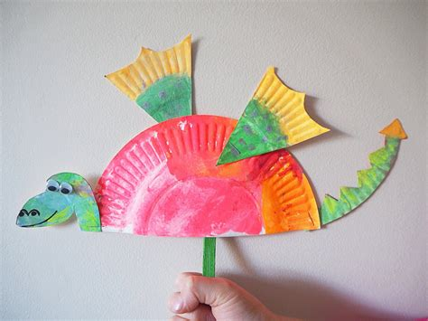 craft made by paper learn with play at home simple paper plate craft