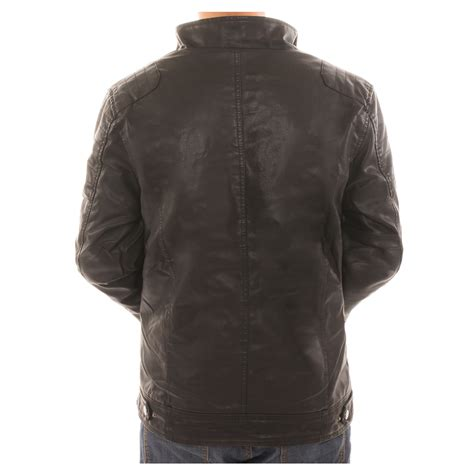 lined leather jacket alta s motorcycle faux leather jacket fleece lined with zippered pockets ebay