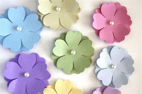 ideas for birthday invitations homemade handmade paper flowers in pastels die cut flower spring