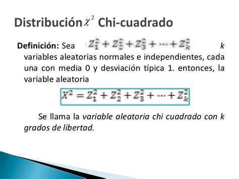 formula chi cuadrado distribucion de chi cuadrado