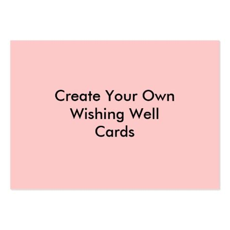 make you own card create your own wishing well cards pink business cards