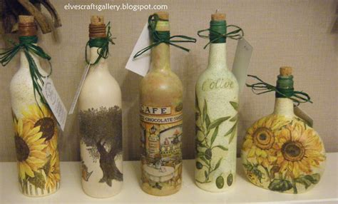 decoupage on glass bottles decoupage how to on glass bottles images
