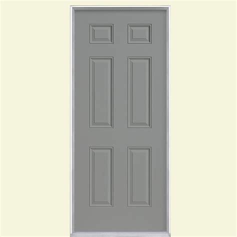 30x80 exterior door masonite 30 in x 80 in 6 panel painted steel prehung