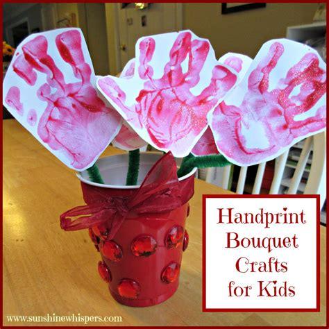 handprint crafts for handprint bouquet crafts for