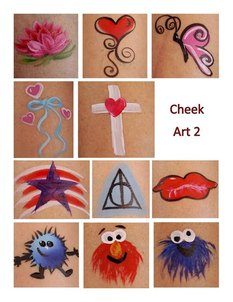 easy cheek designs paintings by beth