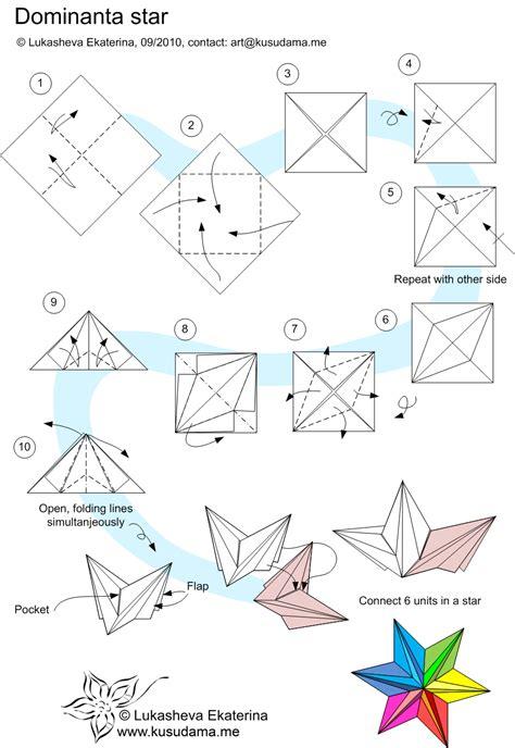 origami diagram fancy origami dominanta folding