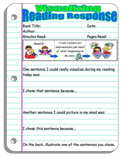 picture books for visualizing reading response forms and graphic organizers scholastic