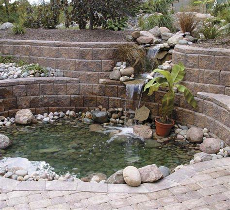 water retaining retaining water features