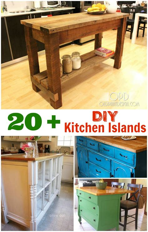 diy kitchen island ideas diy kitchen island ideas and inspiration