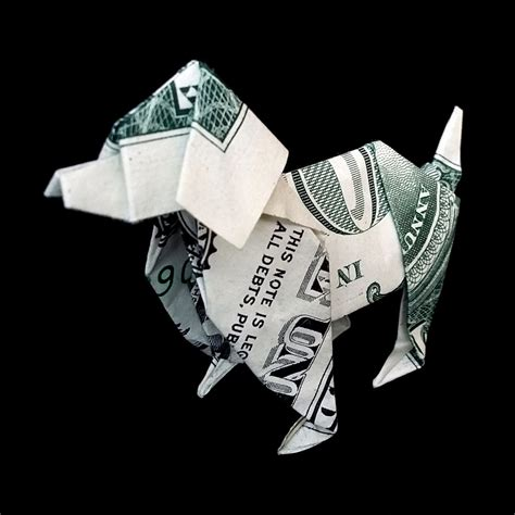 origami out of a dollar money origami made out of real one dollar bill