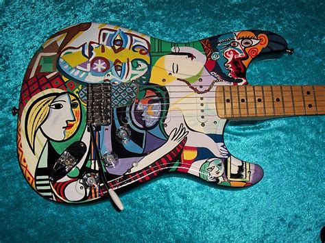 picasso paintings in usa pablo picasso fender stratocaster strat usa american