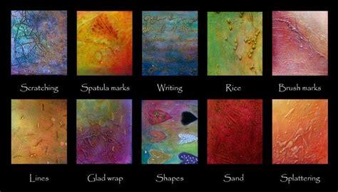 acrylic paint effects gesso texture paste different techniques different