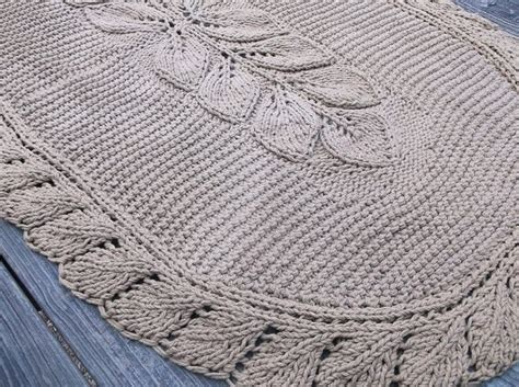 knit rug pattern oval knit rug leaf pattern 28 quot x 48 quot with non slip rug pad