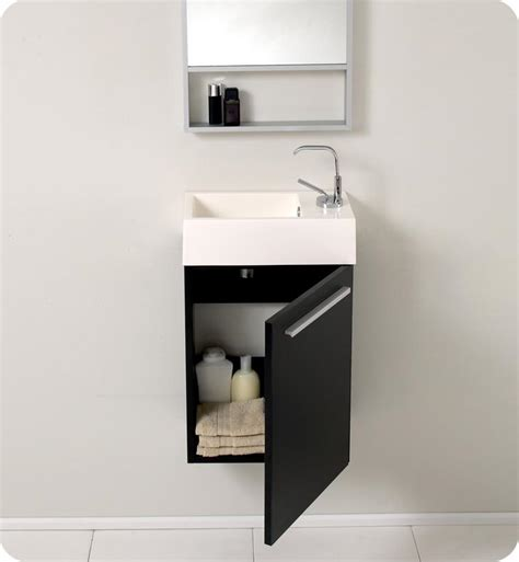 sink vanities for small bathrooms 15 5 fresca pulito fvn8002bw small black modern bathroom vanity w mirror bathroom