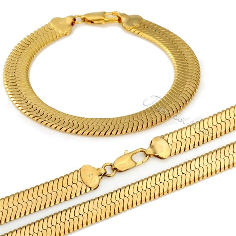 how to make gold filled jewelry jewelry set 6mm mirror snake herringbone necklace bracelet