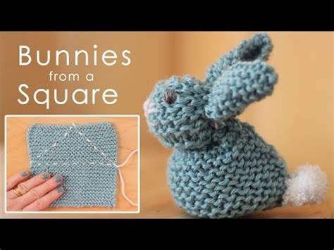 easy things to knit how to knit a bunny from a square easy for beginning