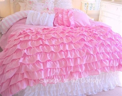 pink ruffle bedding layers of dreamy pink ruffles shabby cottage chic