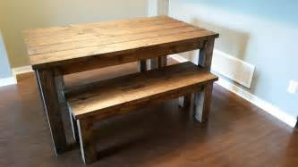 kitchen table with benches set benches dining tables robthebenchguy