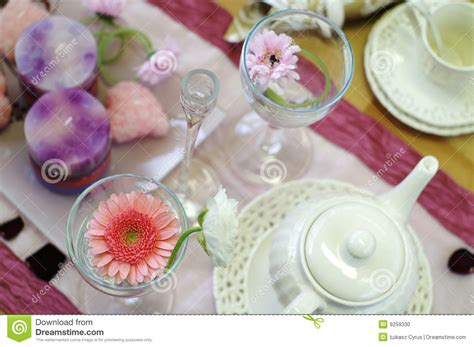Afternoon Tea Table Setting Stock Photo   Image: 9259330