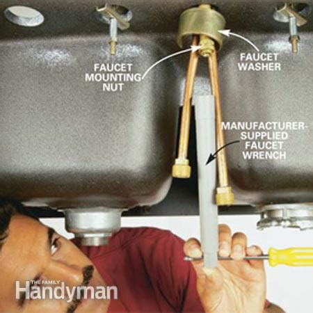 how do you replace a kitchen faucet how to replace a kitchen faucet the family handyman