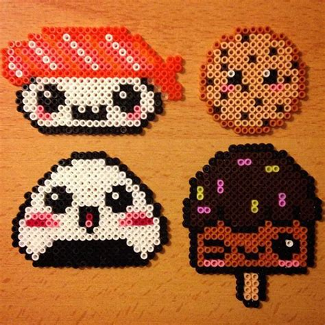 hama food kawaii food hama by evichuchan pixelart