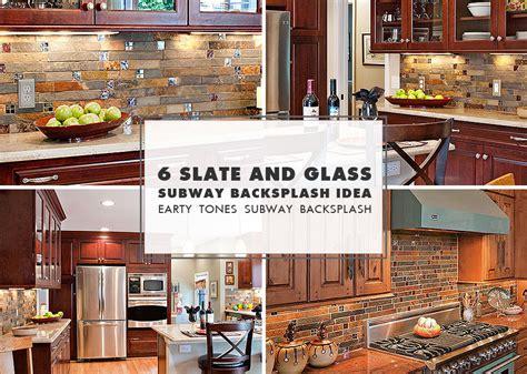 kitchens with mosaic tiles as backsplash slate mosaic brown kitchen backsplash tile