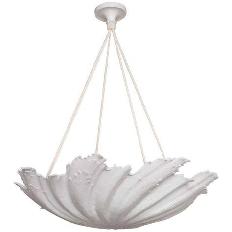 plaster chandelier wp sullivan plaster shell chandelier for sale at 1stdibs