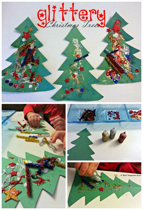 collage crafts for glittery tree collages for toddlers where