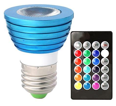 led colored light bulbs hitlights bluewind multicolor rgb 3 watt mr16
