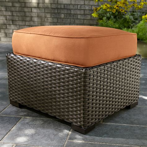 agio international patio furniture agio international woven ottoman rust