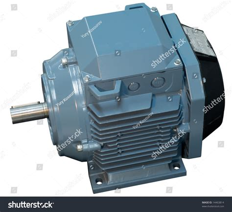 Big Electric Motor by Big Electric Motor Conditioner Fan Isolated Stock Photo