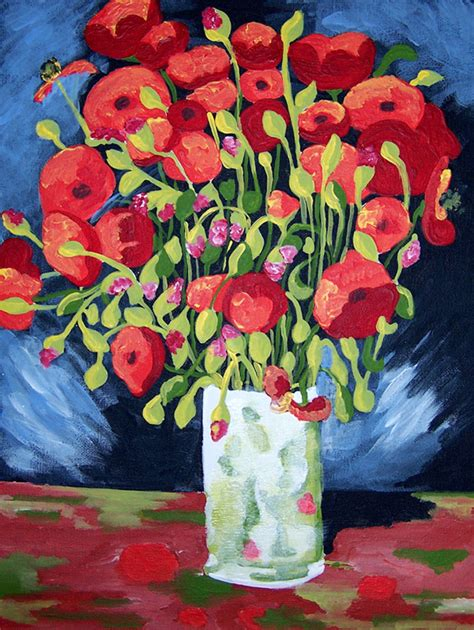 acrylic painting kits for adults vincent gogh paint by number kit of quot the poppies quot by
