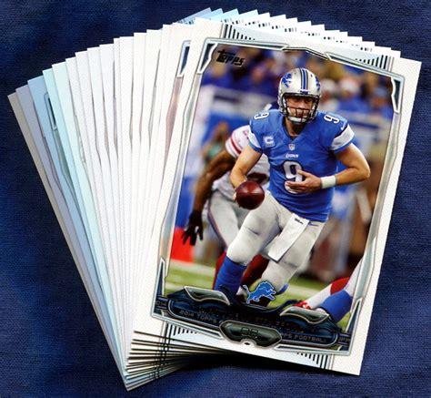 how to make a football card 2014 topps detroit lions nfl football card team set