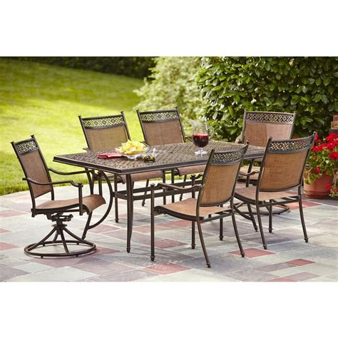patio dining sets home depot hton bay niles park 7 sling patio dining set s7