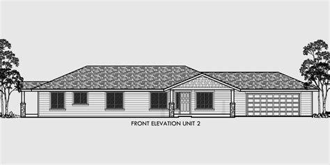 house plans one level one level duplex house plans corner lot duplex plans