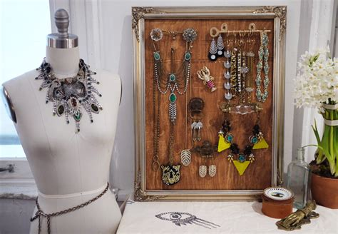 how to make a jewelry display diy jewelry display with lulu